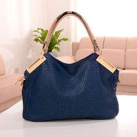 2014 fashion stone pattern big bag quality one shoulder cross-body portable women's handbag