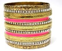 Luxury Designed Stackable Vintage Rhinestone Bracelets Set. Wholesale Indian Retro Jewelry Set. 2014 Summer Holiday Wear Bangles