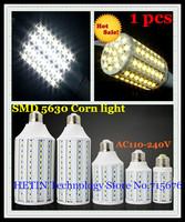 Free shipping 1 pcs E27 E14 B22 12W 15W 25W 30W 40W 50W SMD 5630 5730 42 60 86 102 132 165 LED corn light bulb lamp Maize Light
