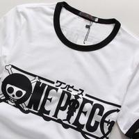 New mens Tee Male short summer Piece anime cartoon fashion tide  cotton short-sleeve print T-shirt free shipping