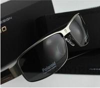 2014 new men's sun glasses male polarized sunglasses myopia sunglasses special mirror driver sunglasses 8485P black