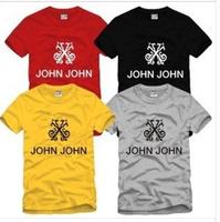 Hot Sale 2014 Men Fashion Tshirts Designer Brand New Short-Sleeve John John Printed Tshirt Hiphop Clothing Camisas De Basquete