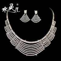 Bridal accessories bridal suite water Linger fine jewelry classic crystal necklace wedding jewelry earrings necklaces 26