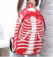 2014 New Arriavl  Women Backpack Canvas Students explosion models big skeleton shoulder bag fashion Women Students School Bag