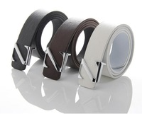 Men's brand Classic belts fashion casual alloy buckle belt for men brand straps Silver buckle for man