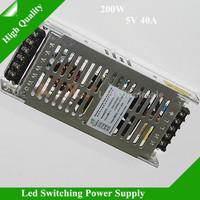 5Pcs/Lot 0utput 5V 40A 200W Input Voltage 200-240V 47-63HZ Led Display Switch Power Supply