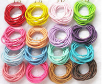 100PCS/lot High Quality Candy Color Girl's Hair Ties Seamless Hair bands kids Elastic Hair Bands