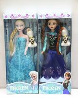 new 2014 dolls  With  Olaf Doll Snow  Dolls 2pcs Set High Quality Elsa and Anna  Princess Toys XC065