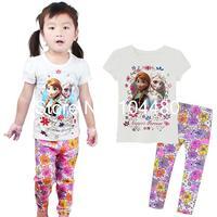 new fashion family Frozen kids pajama sets,cartoon toddler baby pijamas children's sleepwear,girls pyjamas nightwear Pjs