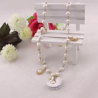 Fashion accessories bj white pearl necklace women's