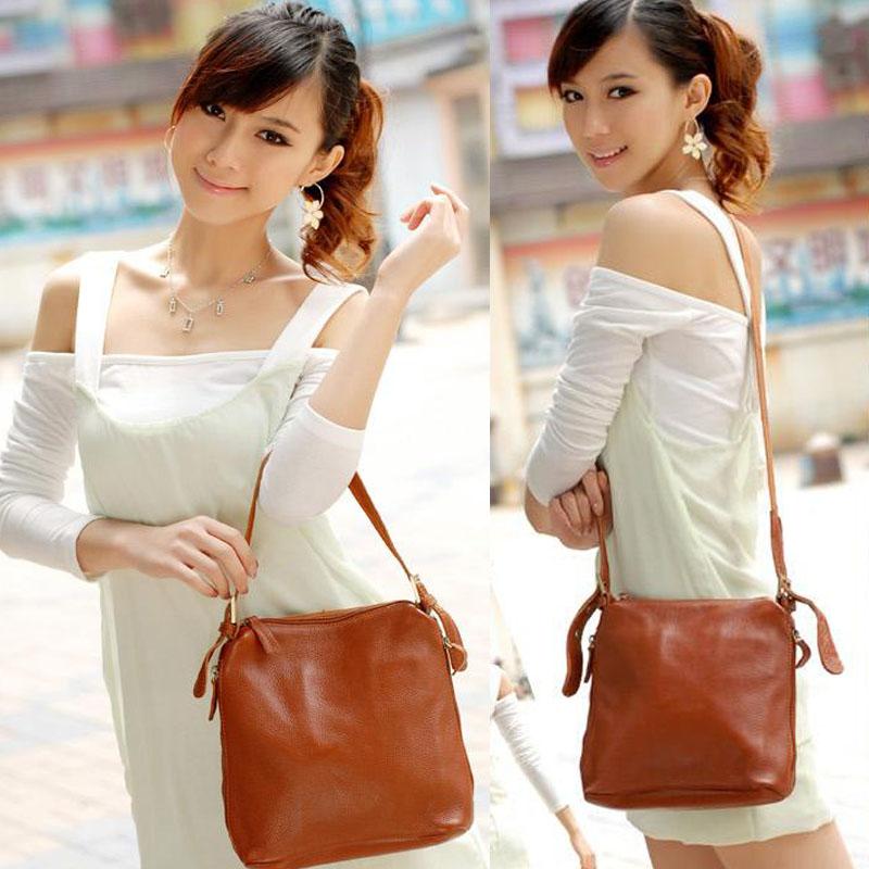 100% Leather women's handbag fashion elegant vintage one shoulder bags cross-body bag genuine leather messenger bag small(China (Mainland))