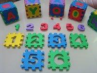 F113 36Pcs 2sets Environmentally 3D EVA Foam Number Alphabet Play Puzzle Floor Mats Baby Carpet Pad Toys For Kids Rug 33*33cm
