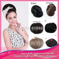 Fashion synthetic hair scrunchies scrunchy Bun UpDo Hair piece  Hair Bun ponytail bun Chignon clip in bun