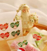 Red & green colors love cartoon santa claus gift sealing paste / decorative paste version