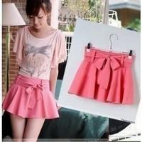 2014 female plus size chiffon short skorts casual culottes short trousers bust skirt
