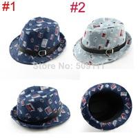 New Children cowboy hat Kids Trilby Fedora Hat Kids Jazz Cap Fedoras Boys Girls Top Hat 10pcs/lot BH018