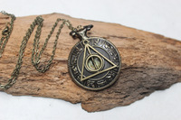 Beautiful Harry Potter and the Deathly Hallows antique pocket watch necklace - Zodiac Vintage pocket watch