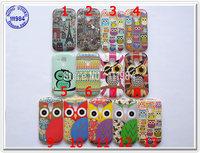 Wholesales OWL Case for Samsung Galaxy S3 Mini i8190 Covers Cute Birds Retor Design Soft Cartoon Mobile Phone Shells