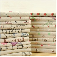 "25cm x 25cm (9.8""x9.8""),  20 pcs / lot ZAKKA linen cotton fabric home textile Home Deco. fabric No Repeat Design"
