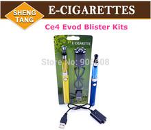 eGo E-Cigarette EVOD Blister Kits Ce4 Atomizer EVOD Battery 650mah 900mah 1100mah for E Cigarette Electronic Cigarette
