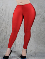New Design Hot 2014 Women Legging With Solid Red Color Sheath Leggings With One Size T2342