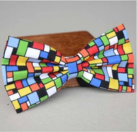 Colorful mosaic women & mens bowtie,necktie,butterfly tie for mens,pre-tied bow tie Christmas Gift #1696