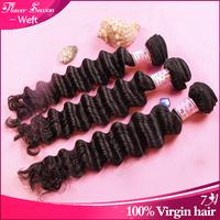 Free shipping 7A grade peruvian virgin deep wave hair natural color mixed length 2pcs/lot queen weave beauty human hair