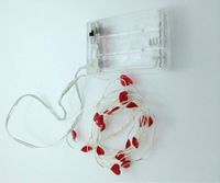 2m 20 LED Submersible Wire Heart-shaped String Lights Battery Fairy Lights Wedding Decoration