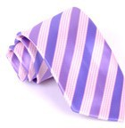 Silk tie polyester jacquard pattern men's casual arrow type tie twill stripes
