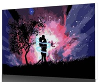 2014 New Arrival Frameless DIY painting by numbers acrylic painting unqiue gift home decor 005 romantic night