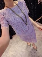2014 free shipping new summer women lace crochet dress  fashion slim women two piece dresses