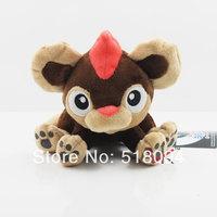 "5pcs/lot Free Shipping Anime Cartoon Pokemon Pocket Monster Litleo Plush Toys Soft Stuffed Animal Doll 6.5"" 17cm PKPD210"