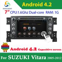Pure Android 4.2 2 din Car DVD Player For Suzuki Vitara Grand vitara with WIFI 3G GPS USB Capacitive screen Car radio car Audio