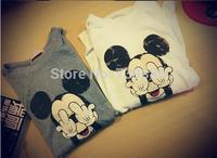 YT024,2014 New Fashion Summer Korean Vintage Cartoon Whimsy Mickey  Woman Dress Lady Dresses T-shirt Free Shipping
