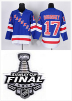2014 stitched 2014 Stanley Cup Finals Patch New York Rangers 17 Brandon Dubinsky ice hockey jersey/shirt/sportswear