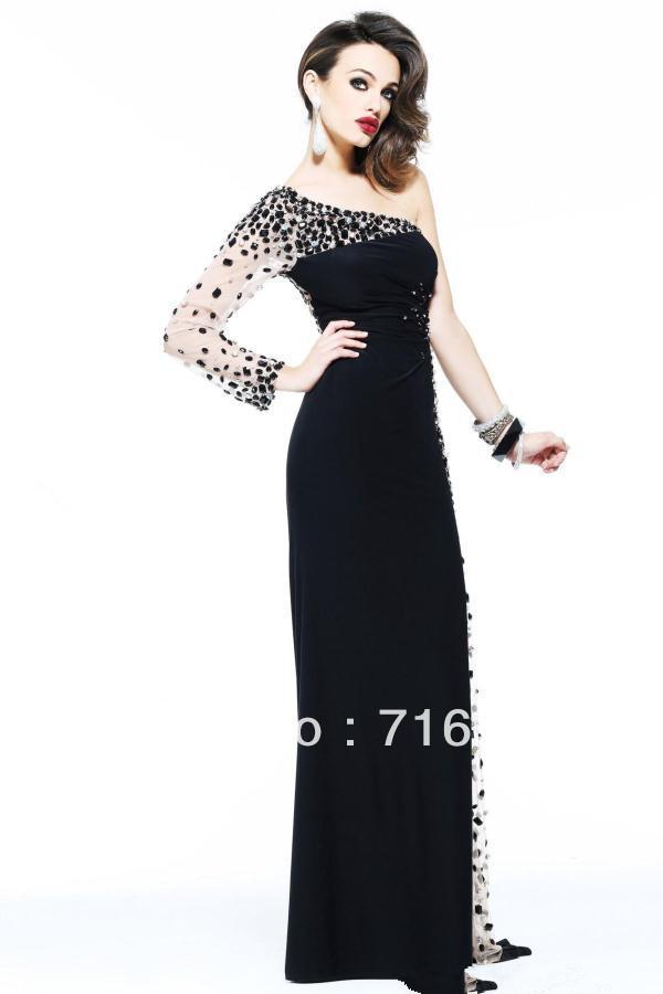 Prom Dresses 2013 Long Long Sleeves Prom Dress