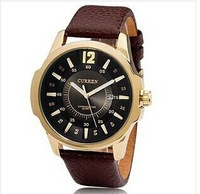 2014 new fashion Men  Leather Strap Quartz Brand Watches Casual Sports luxury Watch