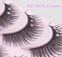 Fashion Crisscross False Eyelashes with crystal The marriage of eyelashes Makeup 817E