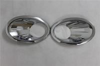 ABS chrome  front fog lamp light cover 2PCS    for Nissan Qashqai 2010 2011  2012 2013 2014