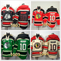 2014 cheap stitched chicago blackhawks #10 Patrick Sharp Lace Up Pullover Men's ice hockey hoodies /Hooded Sweatshirts