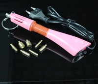 Rapid Heat! Retail Pink Hot fix Applicator wand Gun for Hotfix Rhinestones iron on crystals free DIY tray and tweezers