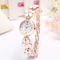 New Korean fashion Beautifuldaisies flower rose gold bracelet Wrist Watch Women Girl gift Free Shipping