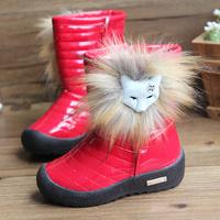 Winter  2014 new fashion  medium-leg children snow boots girls boots  children shoes waterproof kids boots