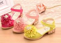 Free Shipping 2014 children little daisy princess open toe sandals
