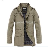 Free shipping 2014 Winter Jacket Men  New Outdoors Casual Overcoat Coats Jacket Men M L XL XXL XXXL