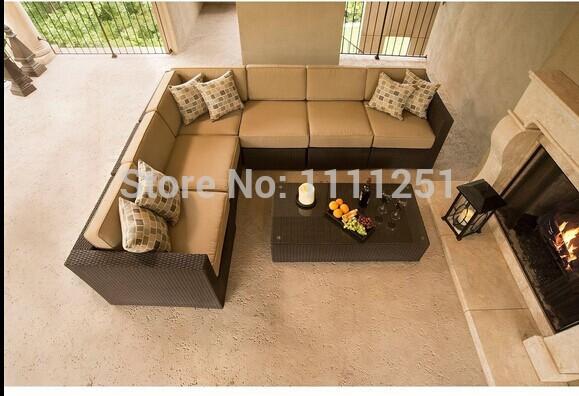 Купить Плетеный диван 7 pc Sunbrella Y-294 с бесплатной доставкой
