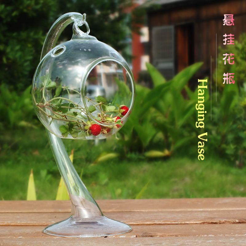 spedizione gratuita sfere di vetro appesi bolla vasi rotondo vasi di fiori terrario supporto di candela per natale decorazioni di nozze 013