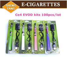 EVOD CE4 Blister Kits 1.6ml Atomizer 650mah 900mah 1100mah EVOD Battery E-cigarette Kits E-cig Electronic Cigarette kits