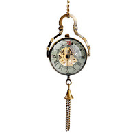 Free Shipping Roman Number Pattern Mechanical Necklace Watch(5pcs)10414#