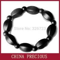 Free Energy Natural Stone Needle Bracelet/ Magic Health Black Stone Needle Bracelet / whiten skin, circulate blocked pores
